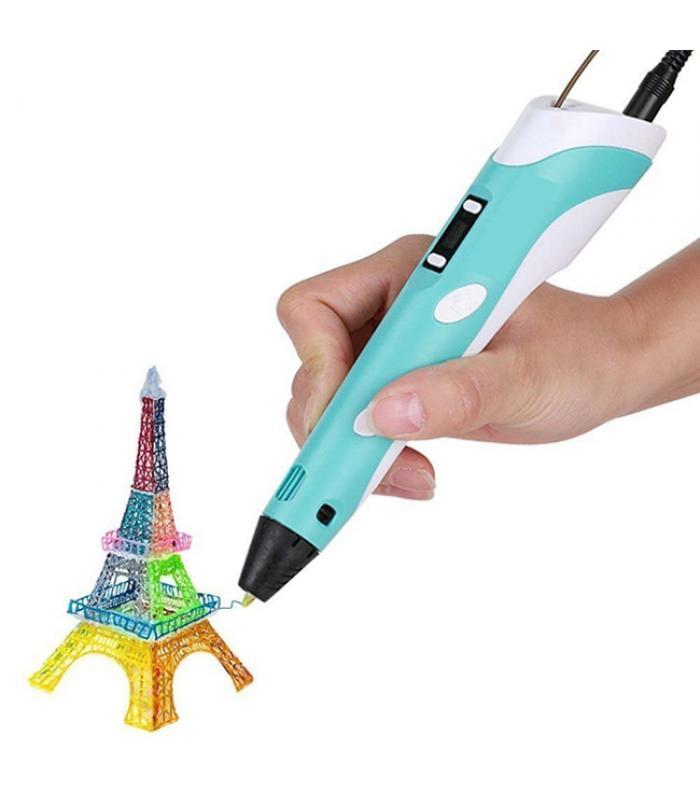 3D ручка c LCD дисплеем 3D Pen-2 blue
