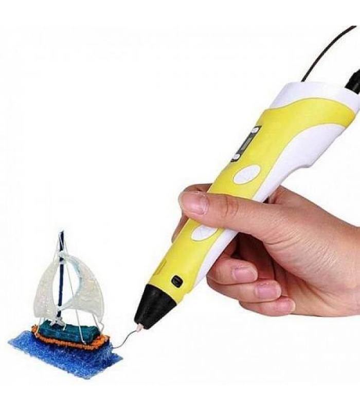 3D ручка c LCD дисплеем 3D Pen-2 yellow