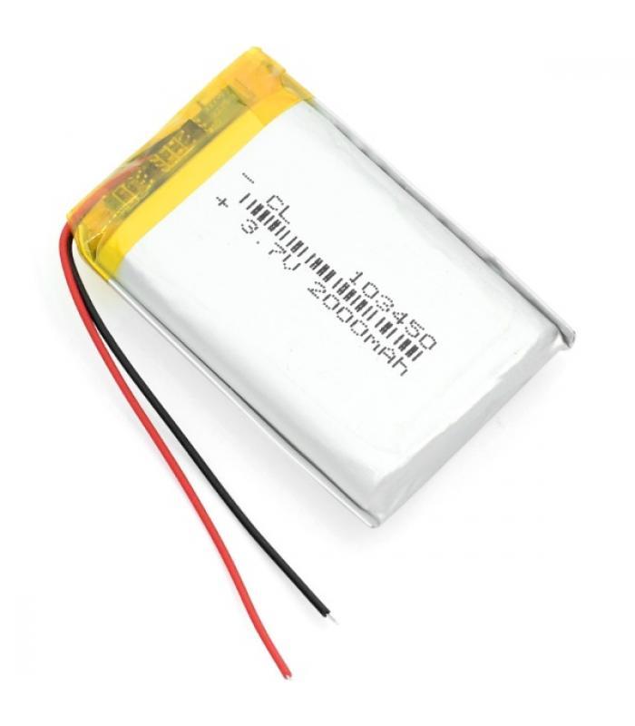 Аккумулятор 3,7 В 2000 мАч lipo литий-полимерный