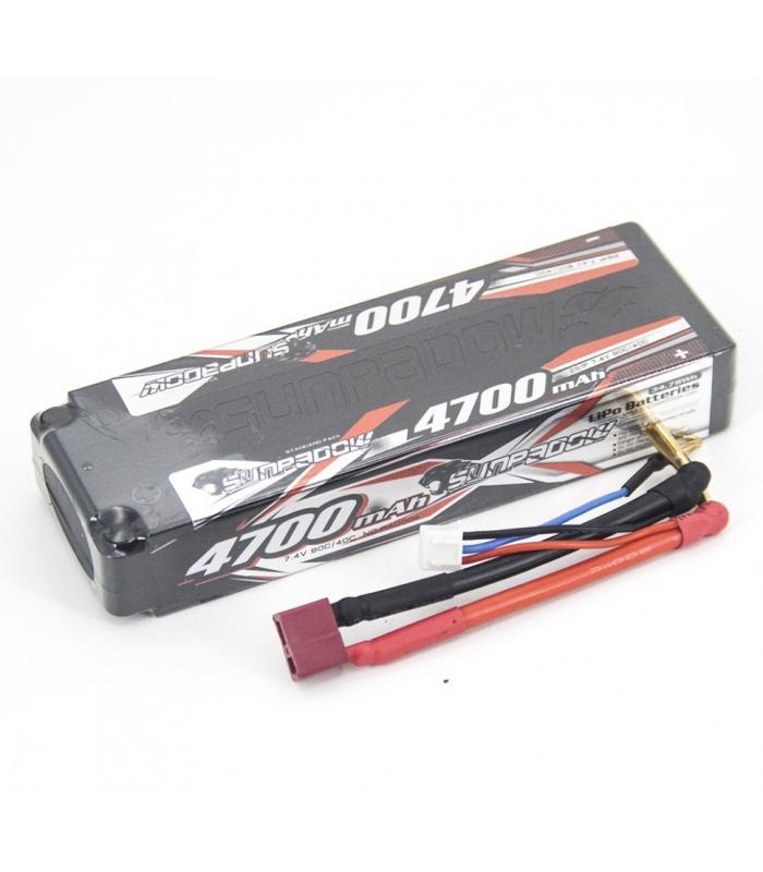 Аккумулятор Sunpadow LiPo 7.4V 2S 40C 4700mAh HardCase (T-Plug)