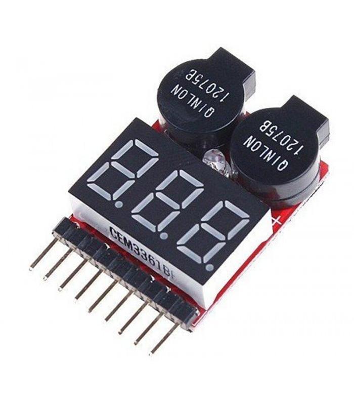 Индикатор напряжения батареи Lipo/Li-ion/Fe (2-8S)