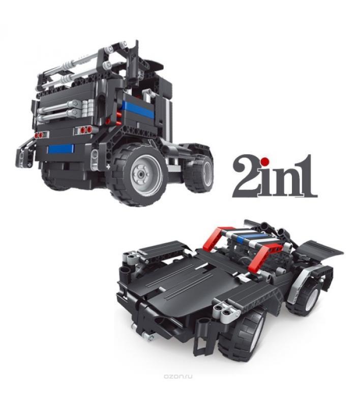 Радиоуправляемый конструктор - грузовик Тягач 8008