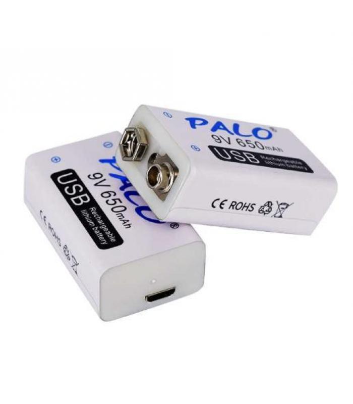 Аккумулятор Крона PALO 9V 650mAh Li-Ion зарядка через micro USB