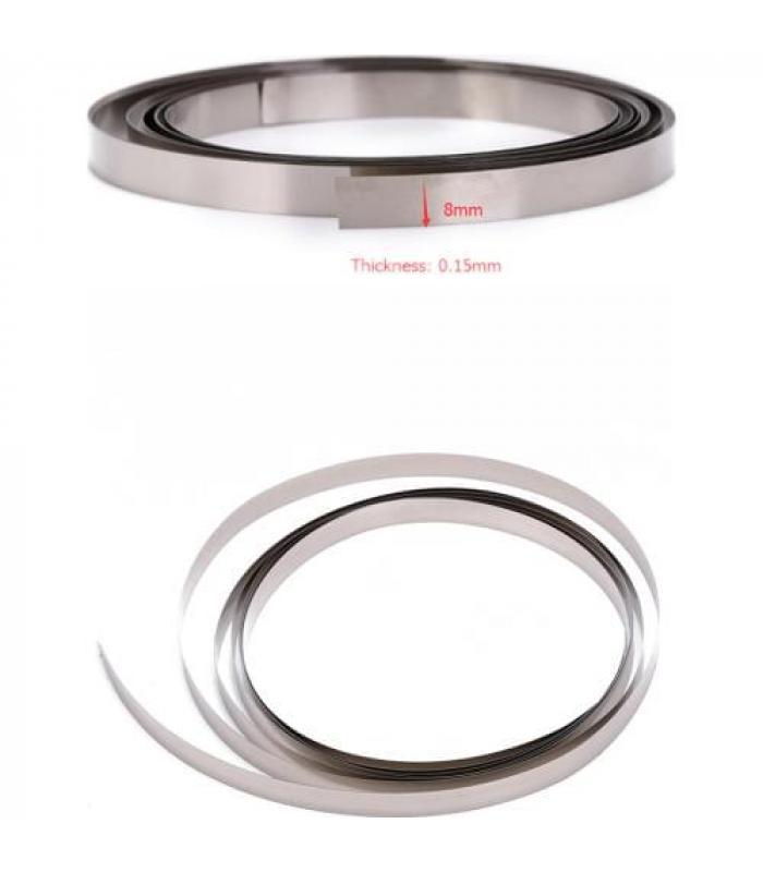 Никелевая лента для пайки-сварки 0.15 мм х 8 мм