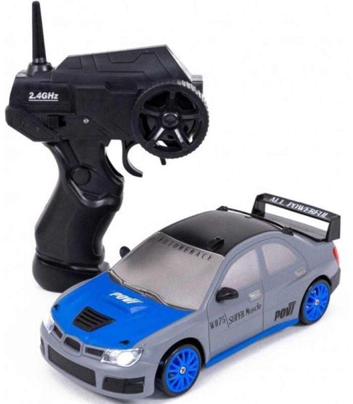 Радиоуправляемая машина для дрифта Subaru Impreza WRX 1:24 (19 см, 15 км/ч, сменные колеса, фишки)
