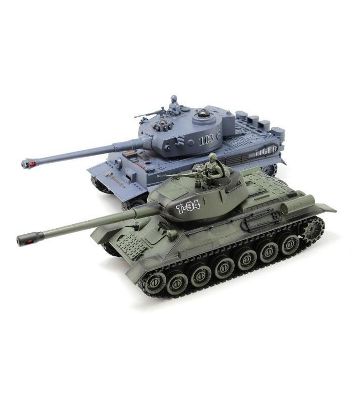Радиоуправляемый танковый бой Т34 и Tiger 2.4G - ZEG-99824