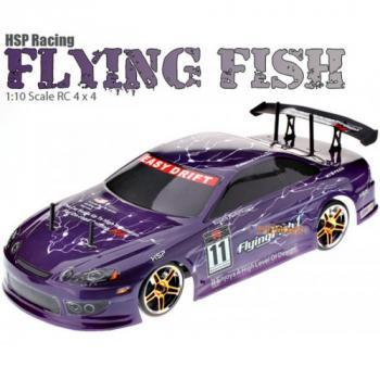 Радиоуправляемый автомобиль для дрифта HSP Flying Fish 1 - 1:10 4WD - 94123PRO-12302 - 2.4G